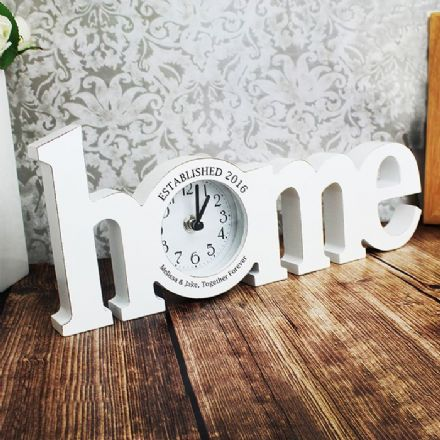 Personalised Home Wooden Clock